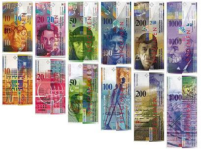 Swiss banknotes!