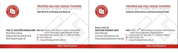 Đây là danh thiếp chính thức của mình bằng cả tiếng ANh và tiếng Việt. Mong từ nay mình sẽ được gọi đúng tên khai sinh nhé!